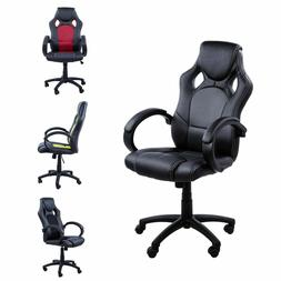 PU Leather Computer Chairs Height Adjustable Racing Gaming S