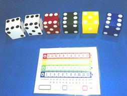 QWIXX FAMILY DICE GAME LAWN YARD GAME W/ reusable Scorecards