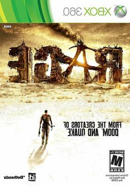 Rage Microsoft Xbox 360 2011 Video Game Brand New Sealed *