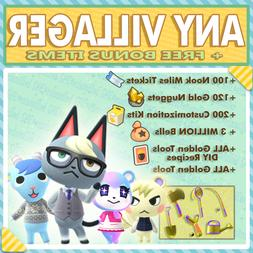 Raymond Marshal Audie ANY Animal Crossing New Horizons Villa