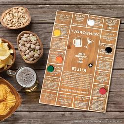 Refinery  Drinkopoly Wooden Board Drinking Game for Adults G