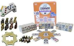 Regal Games Double 15 Mexican Train Dominoes with Wooden Hub