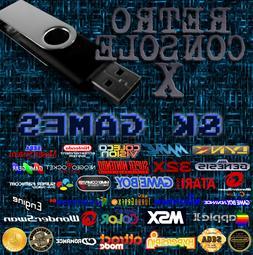 Retro Console X Classic Gaming USB Flash Drive 8,000+ Games