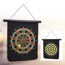 Reversible Magnetic Dart Board Set Target Game Room Dartboar