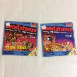 Scratchees Vintage Games TWO NEW! 1990 Scratch Off Dragon Qu