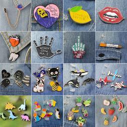 SET Halloween Cartoon Enamel Lapel Collar Pin Corsage Brooch