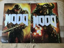 Set of 2 Official DOOM 2016 Promotional Posters Double-Sided