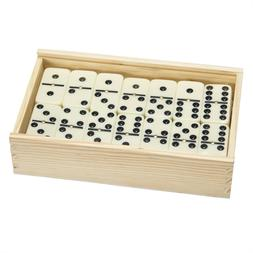 Set of 55 Double Nine Dominoes Wood Case Family Strategy Gam