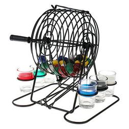 Set of Bingo Lottery Machine Drinking Game for Family Home L