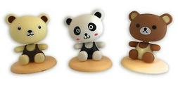 Shaking Head Figures 5 to 6 Inch - 3 Pack Nodding Panda and