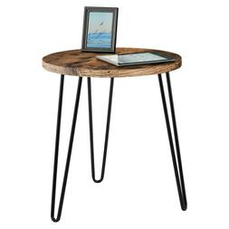 Simple Round Iron Coffee Table Bedroom Retro End Home Teleph