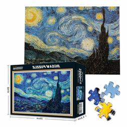 Starry Night - 1000 Piece Jigsaw Puzzles For Adults Kids Lea