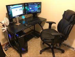 Steel Black Gaming Desk Foldable Office Desk Professional Co