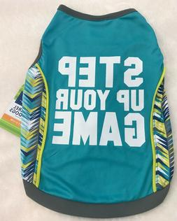 """""""STEP UP YOUR GAME"""" Dog Shirt - XS - Teal - Active Tank - To"""
