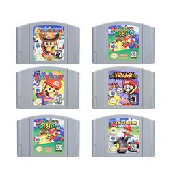 Super Mario 64 party 1, 2, 3 video game cartridges nintendo