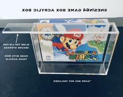 Super Nintendo SNES/N64 Video Game Box Acrylic Display Case