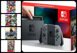 Nintendo Switch Bundle w/ Top 4 Switch Games (Zelda, Mario K