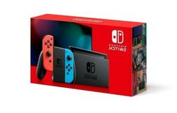 Nintendo Switch Console With Neon Red and Blue Joy-Con V2 +
