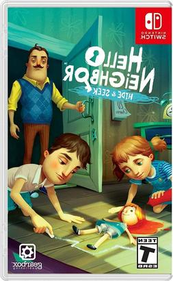 switch video game hello neighbor hide