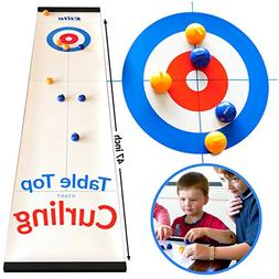Elite Sportz Tabletop Curling Game for Families. Adults vs K