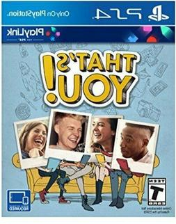 That's You PS4 Playstation 4 New Factory Sealed Free Shippin
