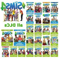 The Sims 4 + ALL DLCs game/stuff pack For Mac & Windows