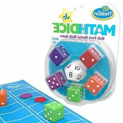 ThinkFun Math Dice Junior Game for Boys and Girls Age 6 and