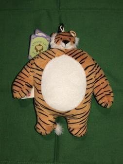 Tiny Headed Kingdom Plush Tiger Stuffed Animal Keychain Clip