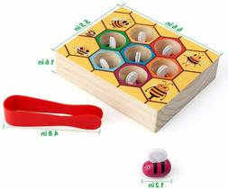 Toddler Fine Motor Skill Toy,Clamp Bee to Hive Matching Game