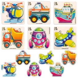 Toddlers and Kids Wooden Puzzles for Boys 1 2 3 Years Old -