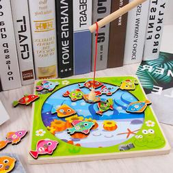 Top Bright Wooden Fishing Game For Toddler Fish Toy For 2 3