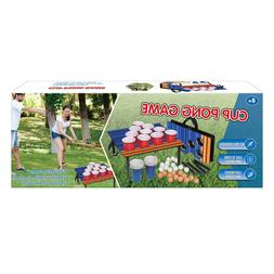 Totally Awesome Cup Pong Portable Fun Family Kids Drinking O