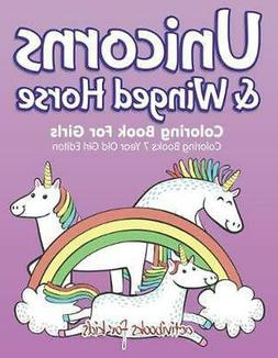 Unicorns & Winged Horse Coloring Book for Girls - Coloring B