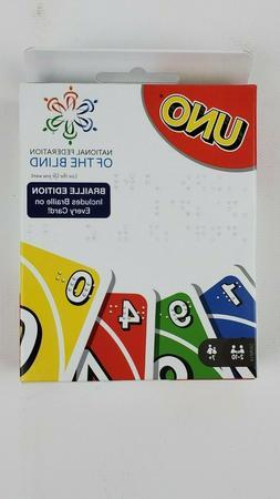 UNO Braille Edition Card Game Mattel