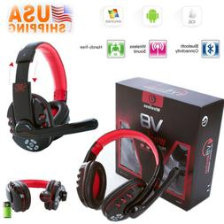 V8 Wireless Bluetooth Gaming Headset Earphone Headphone For
