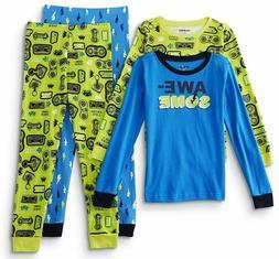 Video Game Pajamas Size 12,14 XL Boy 100% Cotton 4 Piece Set