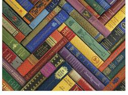 Vintage Library Puzzle  for Book lovers ! FREE SHIPPING