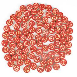 Vintage Tombola Game Tombolini Tiles  | Wooden Italian Bingo