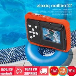 Waterproof Action Digital Video Camera For Kids 12MP HD Chil