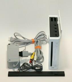 Nintendo Wii Gaming Console Sensor +Cords Gamecube Compatibl