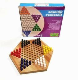 Wood Chinese Checkers Game with Wooden Pegs - Ancient Chines