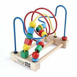 Wooden Bead Maze Game Maze Roller Coaster Educational Toys f