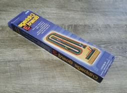 WOODEN CRIBBAGE BOARD WITH 9 PLAYING PEGS FOR 3 PLAYERS & IN