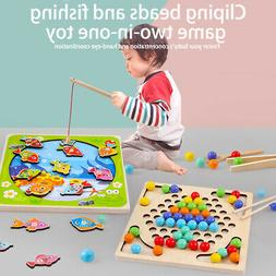 Wooden Magnetic Bath Fishing Game Toy for Age 3 4 5 Year Old