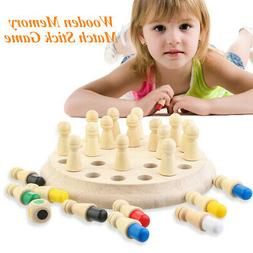 Wooden Memory Match Stick Chess Game Children Kids Puzzle Ed