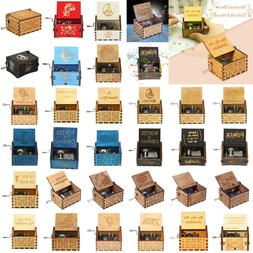 Wooden Music Box Harry Potter Game of Thrones Star Wars Engr