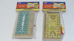 "Wooden Peg Travel Games ""games that go"" FOOTBALL & BASKETBAL"