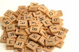Wooden Scrabble Tiles complete set Crafts Pendant Spelling A