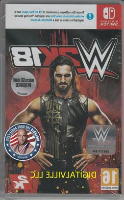 WWE 2K18 Nintendo Switch Brand New Factory Sealed Wrestling