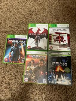 Xbox 360 games bundle - 5 Games  - Dragon Age and Mass Effec